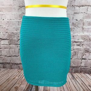 New With Tags BCBG Blue Mesh Mini Skirt